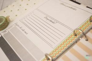 Planner mensual eterno
