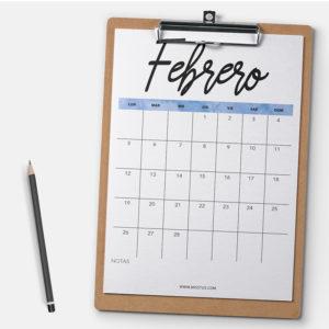 Calendario Febrero 2018 Descargar