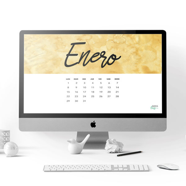 calendario enero 2018