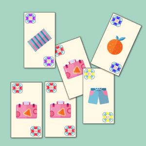Juego cartas familias