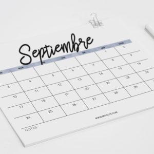 calendario para septiembre
