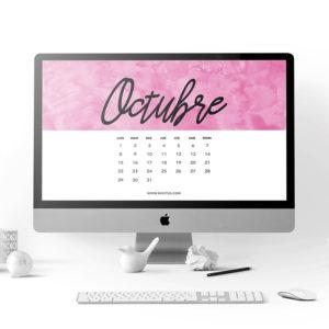 calendario para octubre 2018