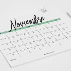 Calendario para noviembre imprimir pantalla