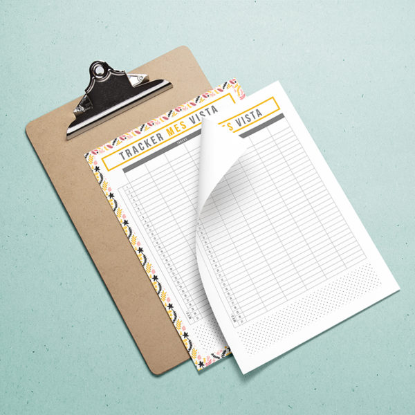 tracker mes vista planner mensuall