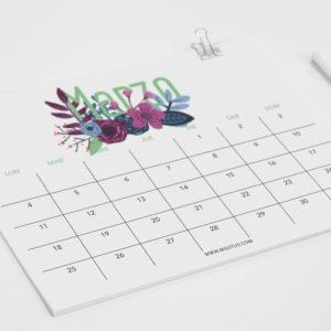 Calendario para Marzo 2019