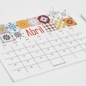 Calendario para Abril 2019